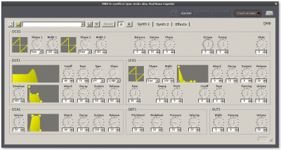 Synth v1: interface GUI