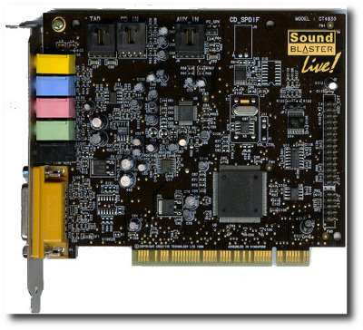 Used in Creative SoundBlaster