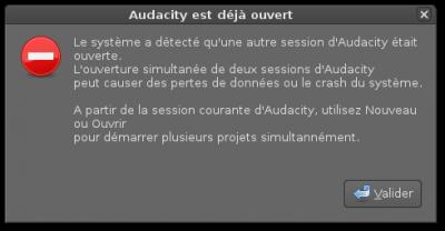Linux MAO | Problème lancement Audacity sur LibraZiK