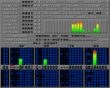 SoundTracker sur Amiga (1990)