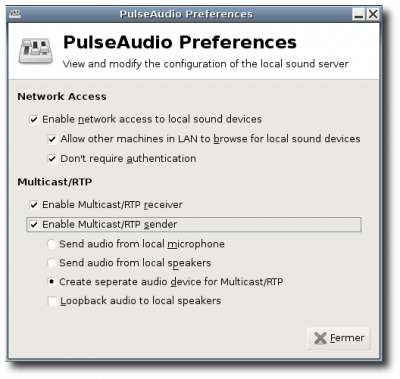 Used in PulseAudio