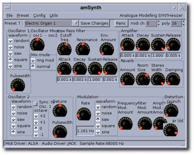 Used in amSynth